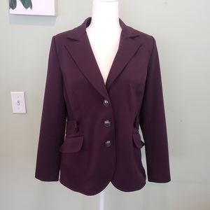 Kelly dark purple blazer
